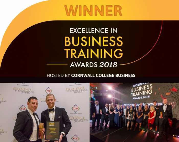 Chapman Receive Excellence In Business Training Award P